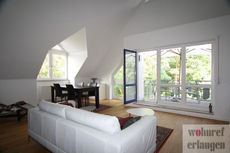 Modern möblierte zimmer wohnung mit balkon in erlangen