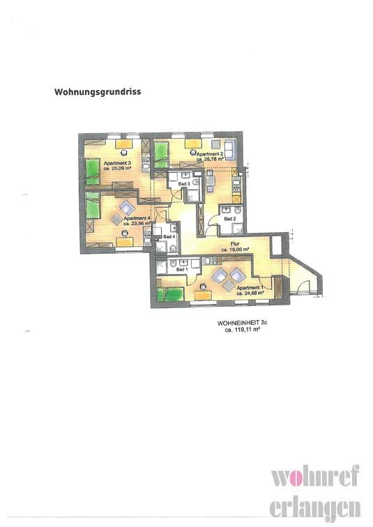 Grundriss Apartment 1